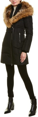 Mackage Trish F Leather-Trim Down Coat