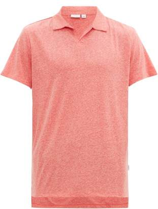 Onia Shaun Linen-blend Jersey Polo Shirt - Mens - Coral