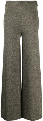 STAUD Daisy flared knit trousers
