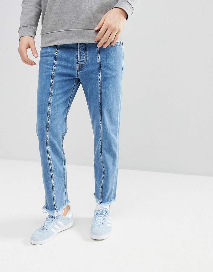 Diesel Dagh-SP 90s Fit Seam Jeans with Distressing
