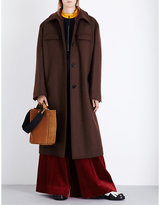 Marni Oversized Single-breasted Wool-blend Coat