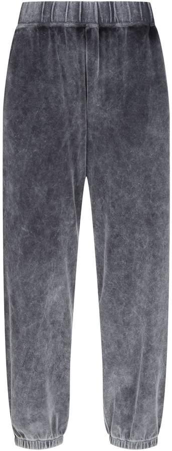 Alexander Wang Velour High Waist Sweatpants