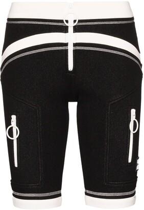 Off-White Two Tone Scuba Bike Shorts