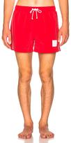 Thom Browne Classic Brushed Finish Swim Trunk in Red.