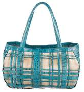 Nancy Gonzalez Caged Crocodile Tote