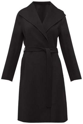 Joseph Lima Tie-waist Wool-blend Coat - Womens - Black