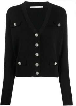 Alessandra Rich Jewelled Button Cardigan
