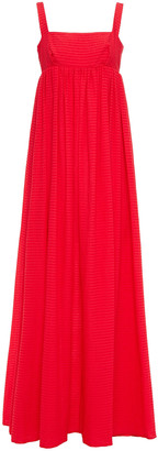 Emilia Wickstead Evelina Gathered Organza-seersucker Maxi Dress