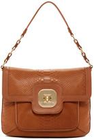 Longchamp Gatsby Croc Embossed Leather Shoulder Bag