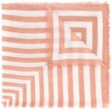 Closed striped scarf