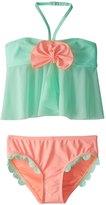 Hula Star Girls' Mermaid Scallops Tankini Set (2T6X) - 8154252