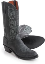 Lucchese Marsh Goat Cowboy Boots - Leather, R-Toe (For Men)