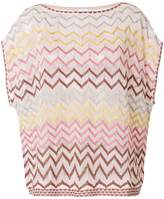 M Missoni oversized zig-zag knitted T-shirt