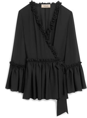 Mulberry Judy Blouse Black Georgette