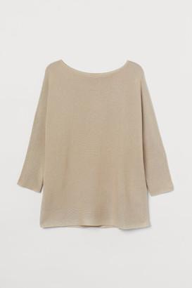 H&M H&M+ Knit Sweater - Beige