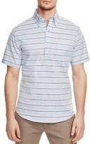 New England Shirt Co. Stripe Regular Fit Popover Shirt