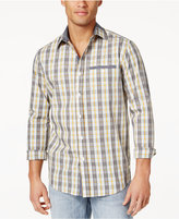 Sean John Men's Cotton Plaid Shirt, Only at Macy's