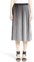 Lafayette 148 New York Women's Stripe Plisse Midi Skirt