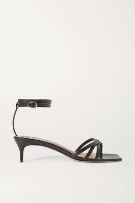 BY FAR Kaia Leather Sandals - Black