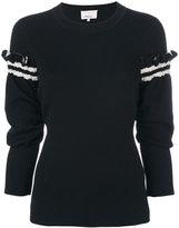 3.1 Phillip Lim Ruffle-sleeve pullover - women - Polyamide/Polyester/Spandex/Elastane/Wool - XS