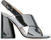 Paula Cademartori chunky heel sandals - women - Calf Leather/Leather/Patent Leather - 36
