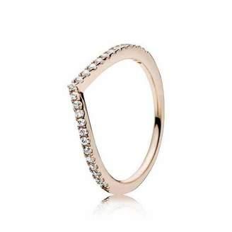 Pandora Women Vermeil Piercing Ring - 186316CZ-56