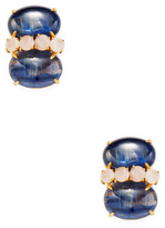 Bounkit Women's Kayanite & Quartz Stud Earrings