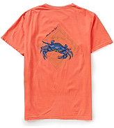 Fripp & Folly Men's Blue Crab Short-Sleeve Graphic Tee