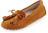 Patricia Green Tassel Suede Driver Moccasin, Camel