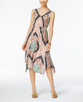 Style&Co. Style & Co Printed Handkerchief-Hem Dress, Only at Macy's