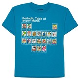 Nintendo Boys' Mario Elements T-Shirt - Blue