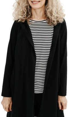 Eileen Fisher Hooded Wrap Jacket