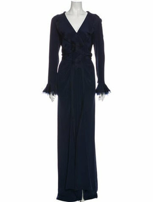 Oscar de la Renta 2010 Long Dress w/ Tags Blue