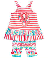 Nannette 2-Pc. Lion Cotton Top and Shorts Set, Baby Girls (0-24 months)