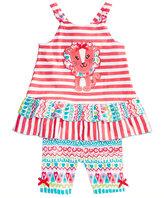 Nannette 2-Pc. Lion Cotton Top & Shorts Set, Baby Girls (0-24 months)