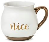 "Threshold Nice"" 16oz Stoneware Mug Gold and Cream"
