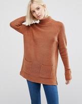 Warehouse Patch Pocket Tunic Sweater