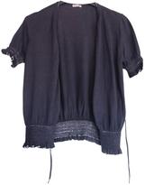 Miu Miu Blue Cotton Knitwear