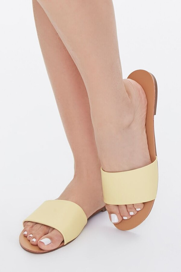 Thumbnail for your product : Forever 21 Faux Leather Flat Sandals