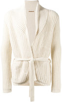 Nuur ribbed detail cardigan - men - Cotton/Nylon - 48