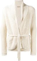 Nuur ribbed detail cardigan - men - Cotton/Nylon - 48