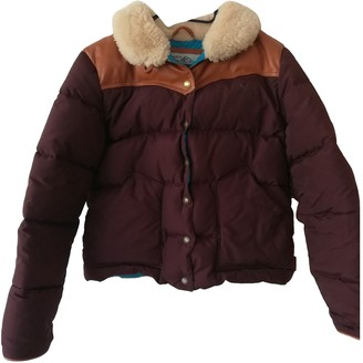 Penfield Burgundy Leather Jacket for Women