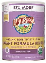 Earth Earth's Best Organic Sensitivity Infant Formula with Iron - 35oz