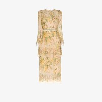 Zimmermann Amelie pintuck flounce dress