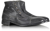 Forzieri Smoke Grey Washed Leather Boots
