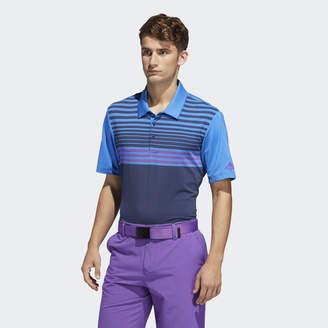 adidas Ultimate365 3-Stripes Heathered Polo Shirt