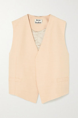 Acne Studios Zip-detailed Woven Vest - Cream