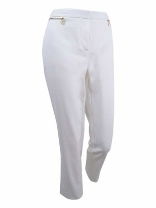 Calvin Klein Women's Plus-Size Ankle Pant with Zips