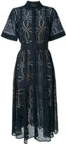 Oscar de la Renta embroidered belted shirt dress