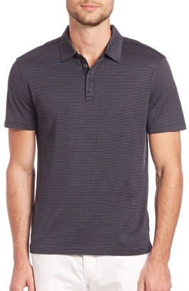 John Varvatos Hampton Striped Silk Blend Polo